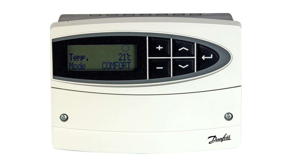 Vi erbjuder en enkel och lätthanterlig fjärrvärmecentral från Danfoss med två olika val
